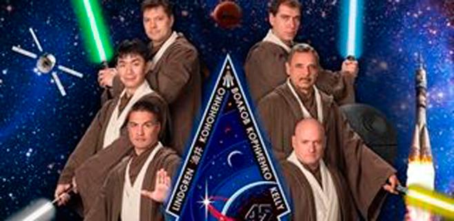 La NASA viste de caballeros Jedi a sus astronautas