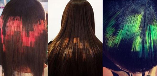 """Llega la nueva moda de """"peinados pixelados"""""""
