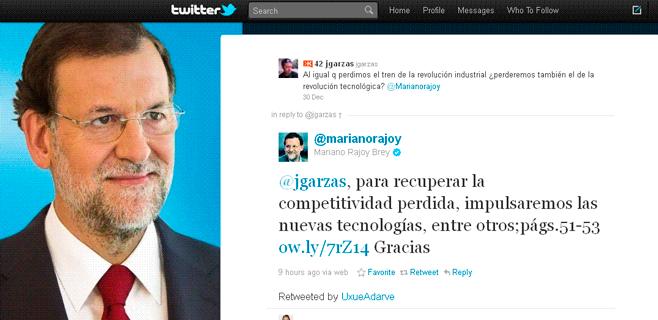 Rajoy es el político más influyente en las redes