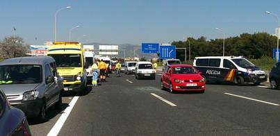 3 heridos en un accidente en cadena en el autopista de Inca en sentido Palma