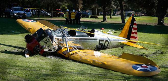 Harrison Ford resulta herido tras un accidente de avioneta