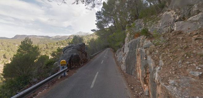 Fallece un ciclista en un accidente en la carretera entre Es Capdellà y Andratx