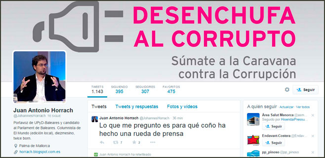 Horrach (UPyD) critica a Rosa Díez y cree que el resultado es