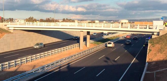 La conexión del Molinar con la autopista se abre a la circulación este miércoles