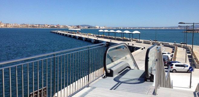 El puerto concluye la mejora del acceso de los cruceristas al Moll de Ponent