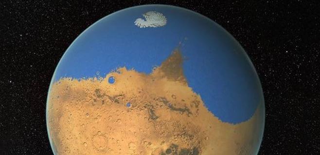 Marte albergó más agua que el Océano Ártico