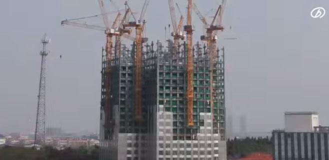 Una empresa china levanta un rascacielos de 57 pisos en 19 días