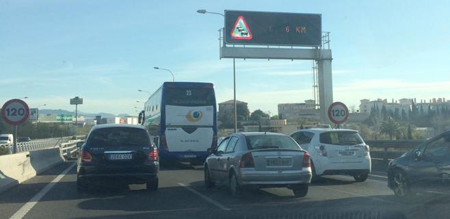 Normalizado el tráfico de entrada a Palma tras varias horas de colapso