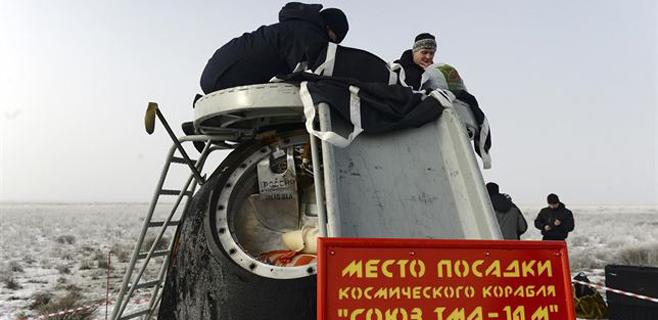 La nave Soyuz regresa a la Tierra con 3 tripulantes de la ISS