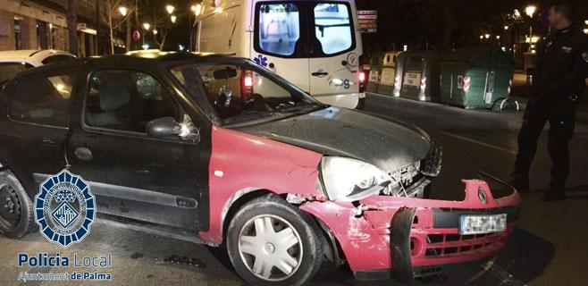 Detenida por provocar un accidente en Palma en estado de embriaguez