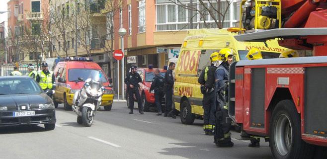 Incendio en un piso en la calle Joan Alcover de Palma