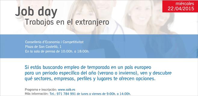 Nueva edición del Job Day del SOIB que ofrece empleo en países europeos