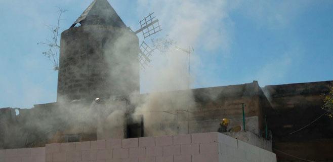 Nuevo incendio en un molino del Jonquet ocupado por un indigente