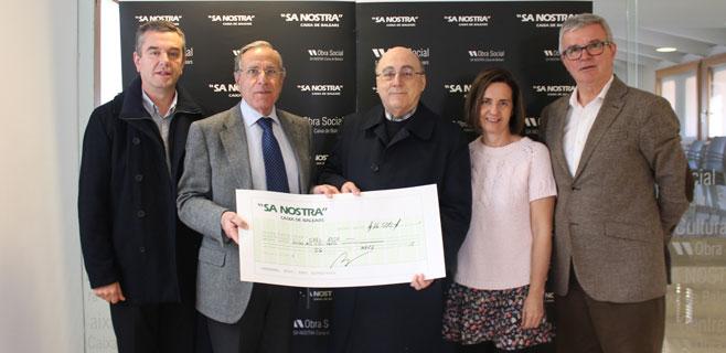 Sa Nostra entrega 16.500€ a Creu Roja Balears
