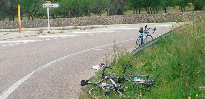 Dos heridos en una caída entre ciclistas en Bunyola