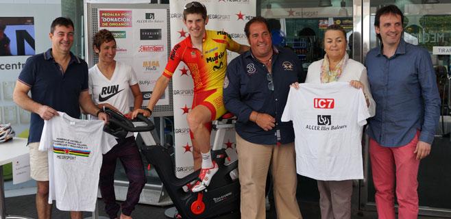 Ciclismo en Megasport para fomentar la donación de órganos