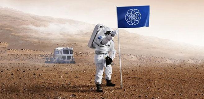 Un estudiante propone una bandera de la Tierra