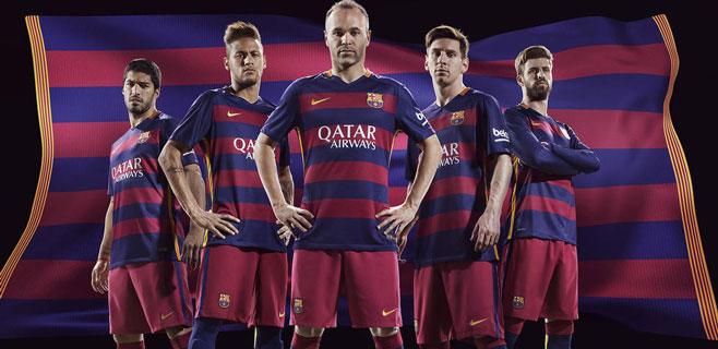 El Barça lucirá camiseta con las franjas horizontales