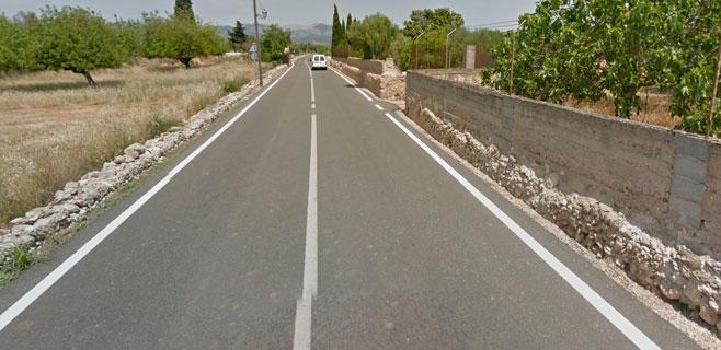 Herido grave un hombre de 60 años en un accidente en la carretera de Biniali