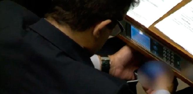 Pillado un congresista brasileño viendo porno en un Pleno