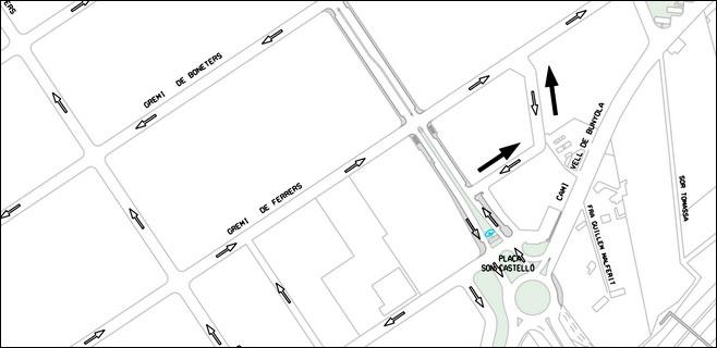 Cambio de sentido de circulación de 2 calles de Son Castelló