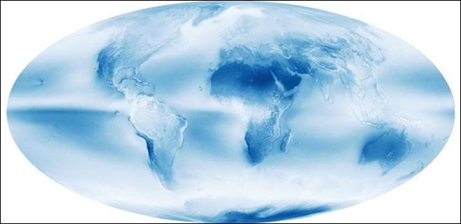 El 67 por ciento de la Tierra está cubierto de nubes