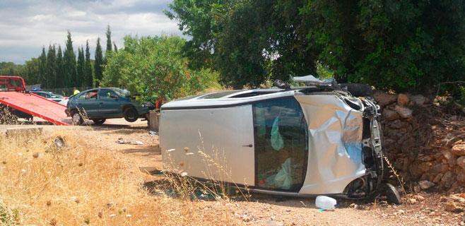 Dos personas resultan heridas en un choque en la carretera vieja de Sineu