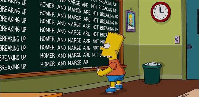 Bart Simpson desmiente el divorcio de sus padres