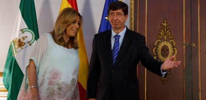 PSOE y C's firman el acuerdo para la investidura de Díaz