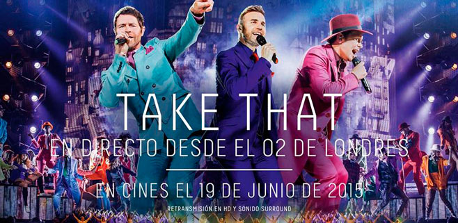 Cinesa Festival Park ofrecerá el concierto de Take That