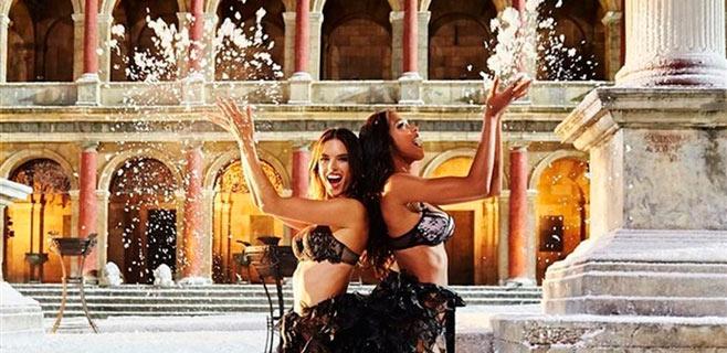 Los ángeles de Victoria's Secret hacen que nieve en verano