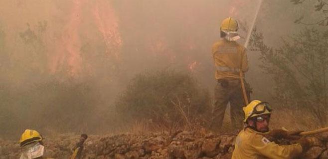 Controlado el incendio de Sant Miquel en Eivissa