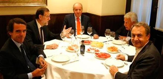 'Cenita' de presidentes con el rey Juan Carlos