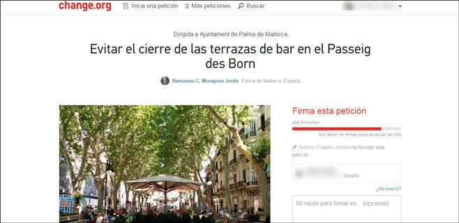 Movilización en change.org para evitar el cierre las terrazas del Borne