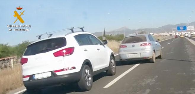 Imputado un hombre por conducción temeraria, grabado por otro conductor