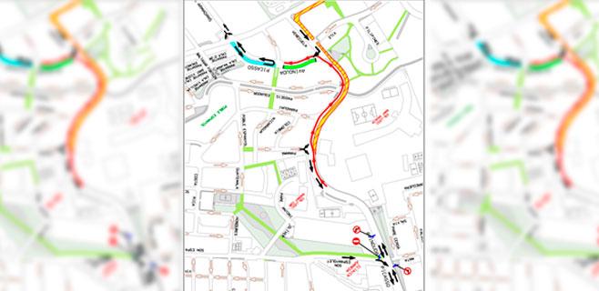Cambios circulatorios por las obras en la red de agua de Avenida Picasso