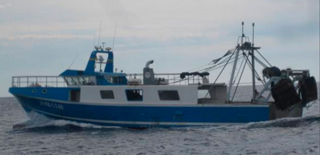 Una herida al colisionar un velero y un pesquero en la costa de Andratx