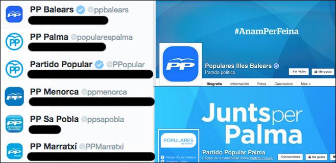El nuevo logotipo del PP no ha llegado aún a las redes sociales de Balears