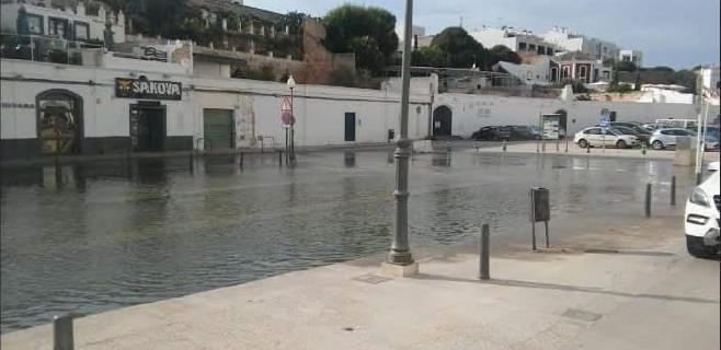 Rissaga en Ciutadella con una oscilación de 98 centímetros