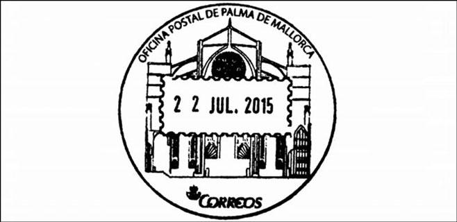 Correos edita un matasellos con la impronta de la catedral de Palma