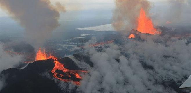 Un volcán islandés ha aumentado la contaminación