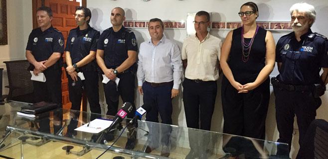 La Policía Local incorpora tres nuevos oficiales
