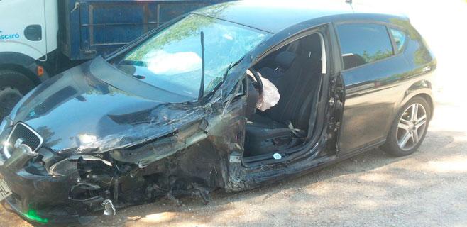 Un hombre resulta herido en un choque en la carretera de Felanitx-Portocolom