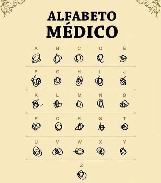 Un alfabeto propio para los médicos