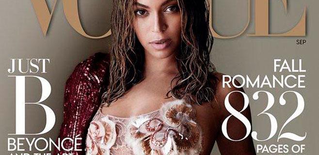 Beyoncé posa de lo más 'húmeda' para Vogue