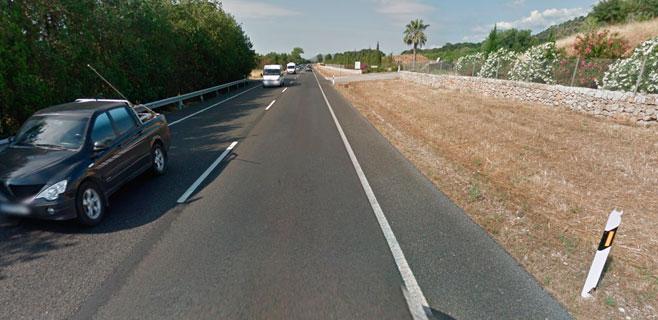 Dos heridos en un accidente entre dos coches en la carretera de Inca a Alcúdia
