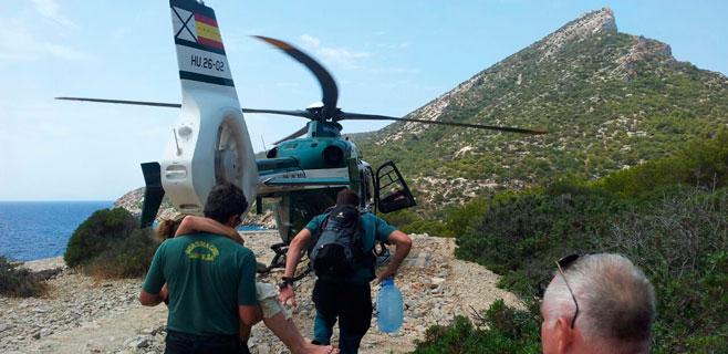 Evacuada en helicóptero una alemana desde Dragonera por deshidratación