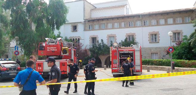 Incendio en un hotel de Cala Major