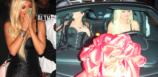 Kylie Jenner recibe un Ferrari por su 18 cumpleaños