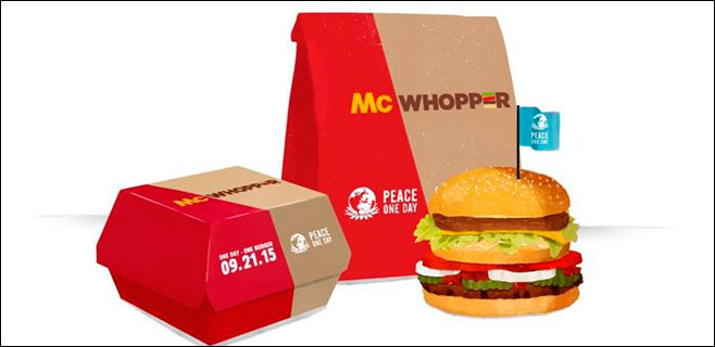 Burguer King propone a McDonalds servir un McWhopper